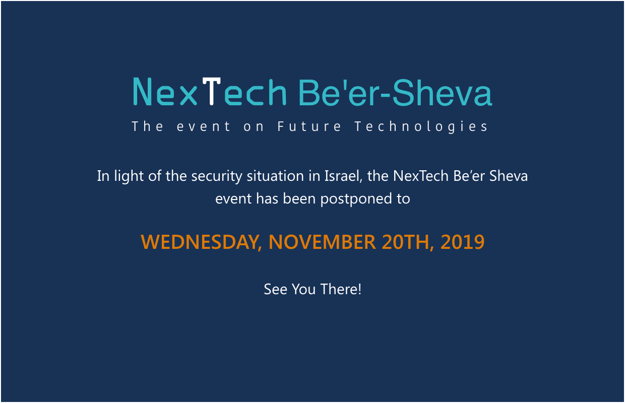 Nextech Be'er Sheva postponed